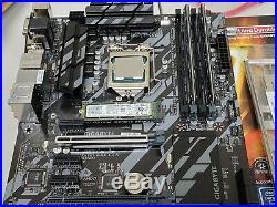 Gigabyte z370 HD3P MB Intel i7-9700K CPU, 16G DDR4 Cosair RAM& 256GB NVMe COMBO