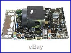 I5-4460 @ 3.20GHz H'sink/FAN 4GB DDR3 MSI H81M Pro-VD CPU Ram Combo Tested ED710