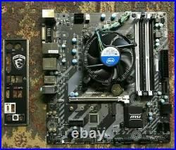 I5-7400 CPU 3.0 GHz and B250M Motherboard Combo