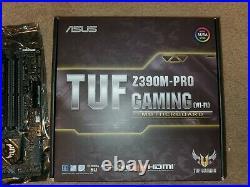 I5 9600k Asus Tuf Z390m-Pro Gaming Wifi CPU Motherboard Combo