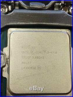 I7 4790 CPU, B85M-G R2.0 Motherboard, 16GB DDR3 RAM combo