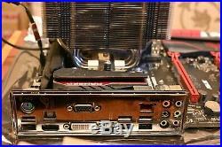 I7 4790K processor, Asus Maximus Ranger VII, Noctua nh-d14, 16GB Corsair memory