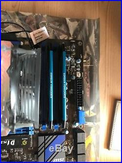 I7 4790k cpu @4.6ghz with msi z97m, 8gb ram and 240gb m2. Ssd