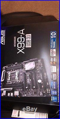 I7 5820k Cpu + 32gb 4x8gb 2400mhz Corsair Vengance Ram + Asus X99-a 3.1 Usb Mobo