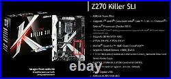 I7 7700k / ASROCK z270 Killer / Corsair LPX 4 x 8 (32GB DDR4 2666)