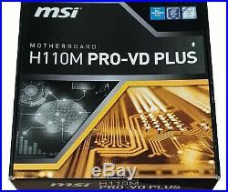 INTEL CORE i7-7700K + MSI H110M PRO-VD PLUS LGA1151 DDR4