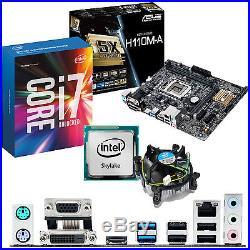 INTEL Core i7 6700K 4.0Ghz & ASUS H110M-A Motherboard & CPU Bundle