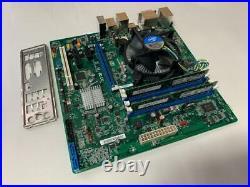 INTEL DQ67SW 1155 MOTHERBOARD With I7-2600K CPU + HEATSINK + 2X4GB RAM & PLATE