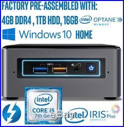 INTEL NUC MiniPC Win10 i5-7260U 3.4GHz 4G RAM 1T HDD 16G OPTANE HDMI 2.0 T-Bolt3