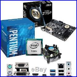 INTEL Pentium G4400 3.3Ghz & ASUS Z170-P Motherboard & CPU Bundle