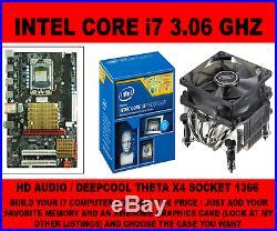 INTEL SOCKET 1366 x58 MOTHERBOARD + INTEL i7-950 3.33GHZ QUAD CORE AND HEATSINK