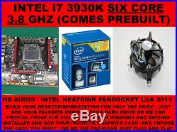 INTEL i7 SIX CORES UP TO 3.8 Ghz LGA 2011 + X79 MOTHERBOARD MATX COMBO + COOLER