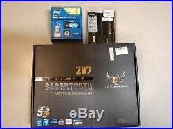 Intel 4770K, Asus Sabertooth Z87, and 16GB Crucial Ballistix RAM