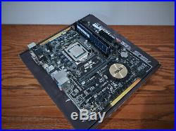 Intel Core i7 4770k ASUS H97M-E CSM with 16GB DDR3 @ 1600MHz