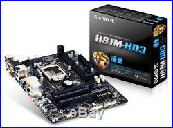 Intel Core i7-4790k 4GHz+16GB Ram+Gigabyte GA-H81M-HD3 Motherboard Free Ship