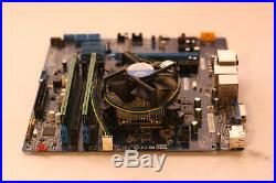 Intel DH87RL LGA1150/H3 Motherboard COMBO i5 4570 3.20GHz QUAD CPU 8GB DDR3 RAM
