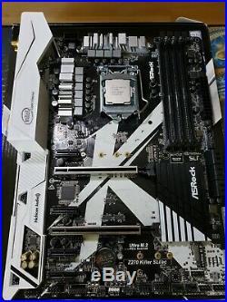 Intel I5 7600k unlocked processor with z270 KILLER SLI / ac motherboard combo