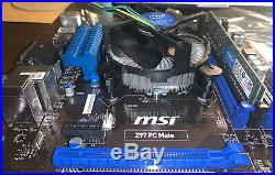 Intel I7-4770k with MSI Z97 and 8GB of DDR3 Crucial RAM