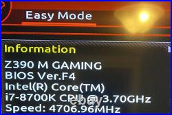 Intel I7 8700k and Gigabyte Z390 M Gaming Combo With Storages