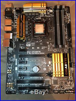 Intel core I7 4790K with Gigabyte GA-Z97X-UD3H mother board and 16GB DDR3 Ram