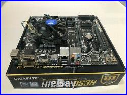 Intel i5 6500 CPU & Gigabyte H170M-DS3H COMBO, USED WORKING 100% WITH FAN