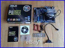 Intel i7 2600K, Asus P8Z68-V Pro, 8GB Corsair Venegence RAM