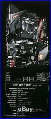 Intel i7-9700K 3.6GHz x8 Core + Gigabyte Z390 Aorus ELITE MOTHERBOARD COMBO