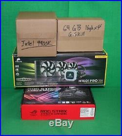 Intel i9-9900K + Asus ROG Strix Z390-E Gaming MB + 64GB RAM + Corsair H150i PRO