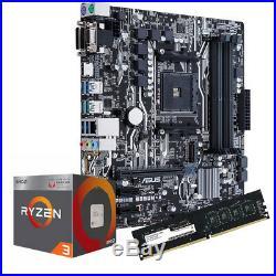 Kit Pc gaming scheda asus + cpu ryzen 3 2200g + 8gb ram video Radeon vega 8