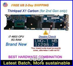 Lenovo ThinkPad X1 Carbon 2nd Gen Gen2 i7-4600U 8G LMQ-1 12298-2 Motherboard