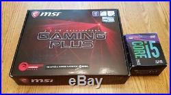 Lot Combo Intel i5 8400 6-core cpu processor + MSI z370 Gaming Plus motherboard