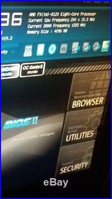 MSI 990 FX Military case CPU AMD FX 8120 8CORE GTX 750W GTX 460 4GB RAM
