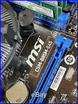 MSI MATX Motherboard with Intel Xeon 1240v3 (like i7 4770) 16G Ram AMD GPU & SSD