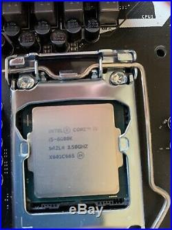 MSI Z170A KRAIT GAMING LGA 1151 Intel Z170 with INTEL Core i5 6600K installed
