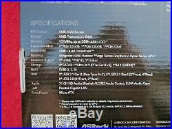 NEW! AMD Ryzen 7 2700X 3.7/4.3 GHz & 16GB & ASRock B450M Pro4 Combo