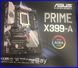 NIB Combo AMD Ryzen Threadripper 1950x & Asus Prime X399-A TR4 ATX Motherboard
