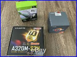 New AMD Ryzen 5 2600X + 3TB Seagate Hard drive + GIGABYTE Motherboard CPU COMBO