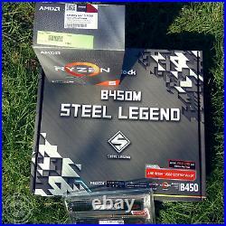 New PC Bundle Kit Set AMD Ryzen 5 3600 B450 Mainboard DDR4 16GB 3000