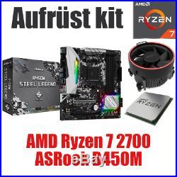 PC Bundle Kit Set AMD Ryzen 7 2700 ASRock B450 Mainboard