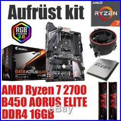 PC Bundle Kit Set AMD Ryzen 7 2700 B450 Mainboard DDR4 16GB 3000