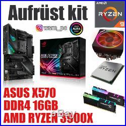 PC Bundle Kit Set AMD Ryzen 9 3900X ASUS X570 Mainboard DDR4 16GB 3000