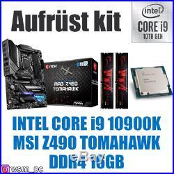 PC Bundle Kit Set Intel Core i9 10900K (10/20) Z490 Mainboard DDR4 16GB