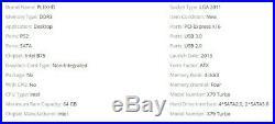 PLEXHD X79 Turbo Motherboard LGA2011 ATX Combos E5 2689 CPU 4pcs x 8GB = 32GB