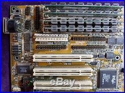 RARE ASUS P/I-P6NP5 Socket 8 Mainboard, CPU Pentium PRO 200MHz, 96MB Ram