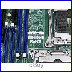 SUPERMICRO X10DRL-iT MOTHERBOARD 2x E5-2620V3 ATX DDR4 LGA2011-3 2x 10GB NIC