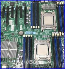 SUPERMICRO X9DRi-F Motherboard 2x E5-2620 CPU 8GB RAM Heatsink I/O E-ATX IPMI