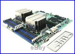SuperMicro X9DR3-LN4F+ Ver 1.20 MOTHERBOARD LGA2011 2x E5-2630 8GB I/O Heatsinks