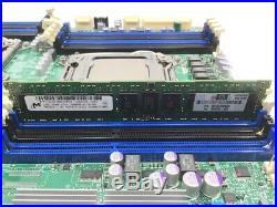 SuperMicro X9DRI-F 2x E5-2620v1 8GB Heat Sink IO