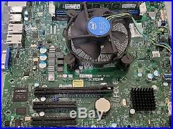 Supermicro X10SLL-F Motherboard with Xeon E3 1240v3 CPU, 16G ECC ram (2x8) and HSU