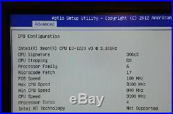 Supermicro X10SLM-F Intel Motherboard E3 1220v3 8GB Memory